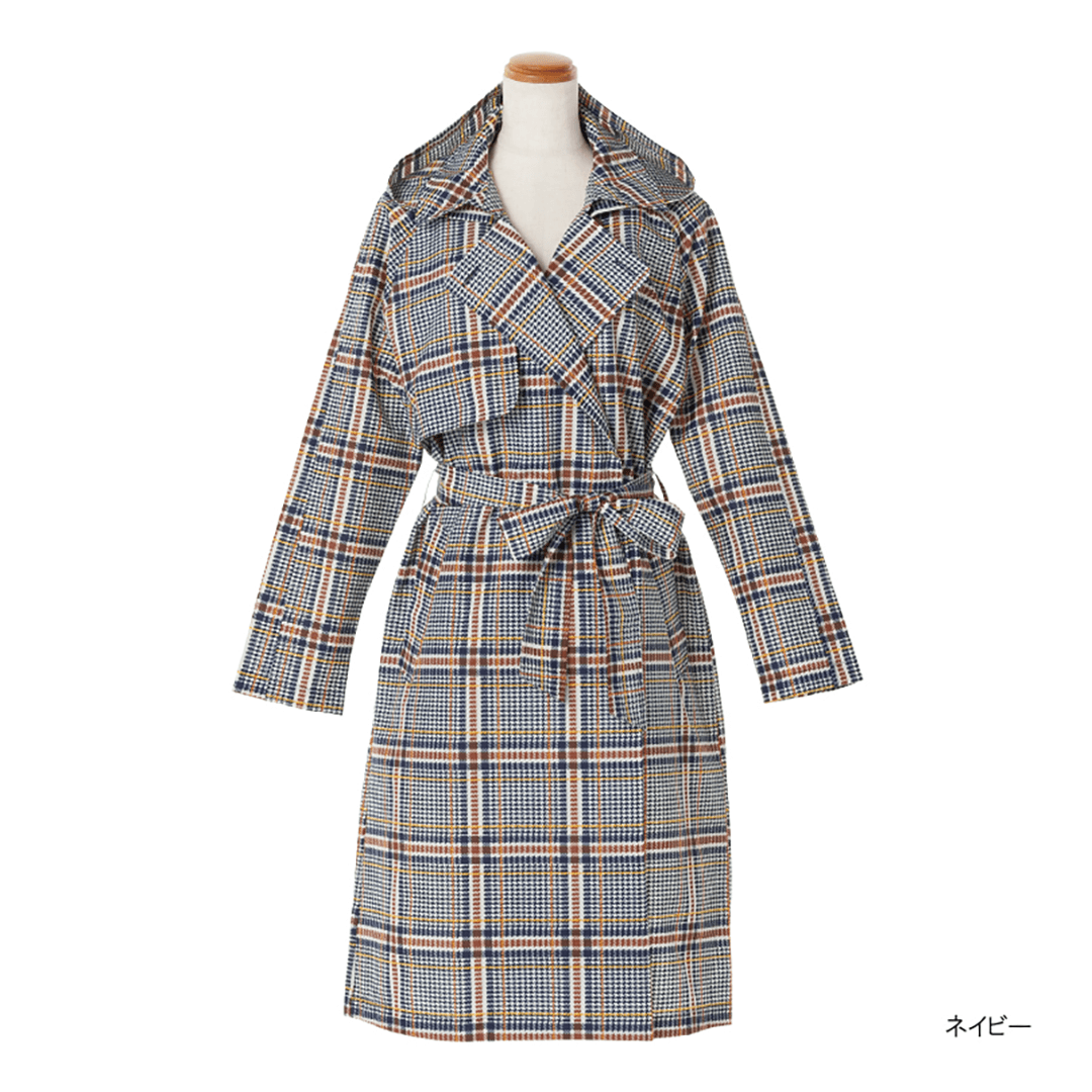 Pattern Gown Trench Coat-04