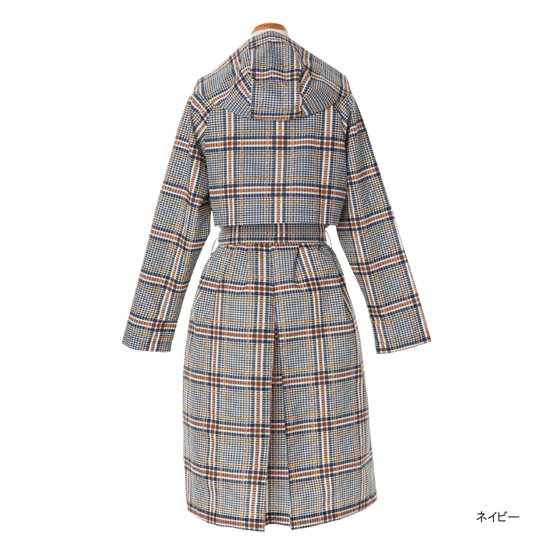 Pattern Gown Trench Coat-05