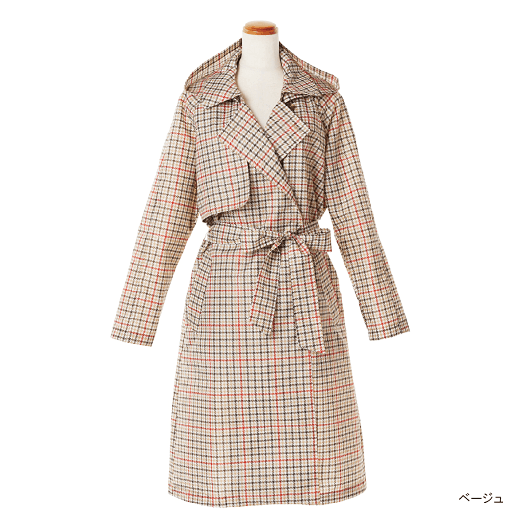 Pattern Gown Trench Coat-06