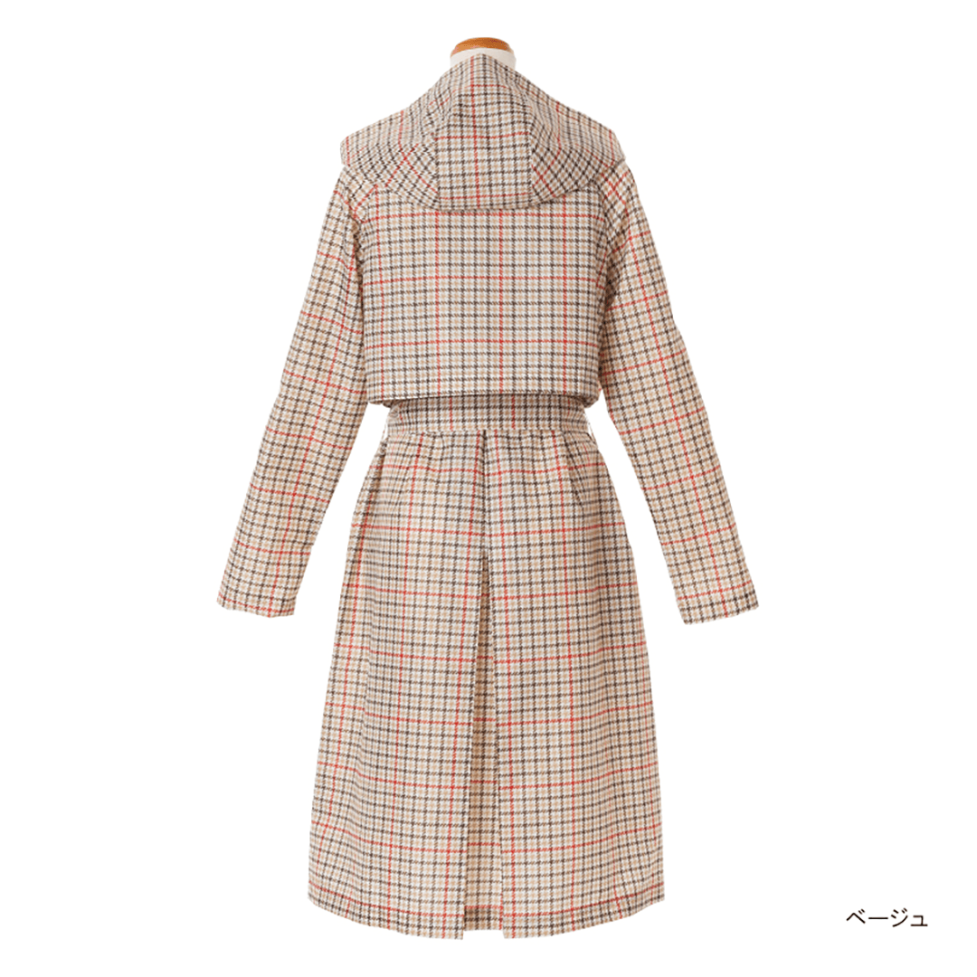 Pattern Gown Trench Coat-07